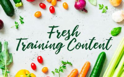 Fresh Training Content