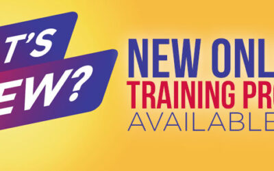 New Online Training Programs – Available Now